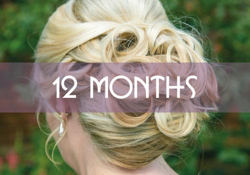 12 Month Bridal Hair Package