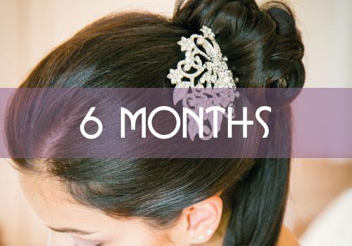 6 Month Bridal Hair Package